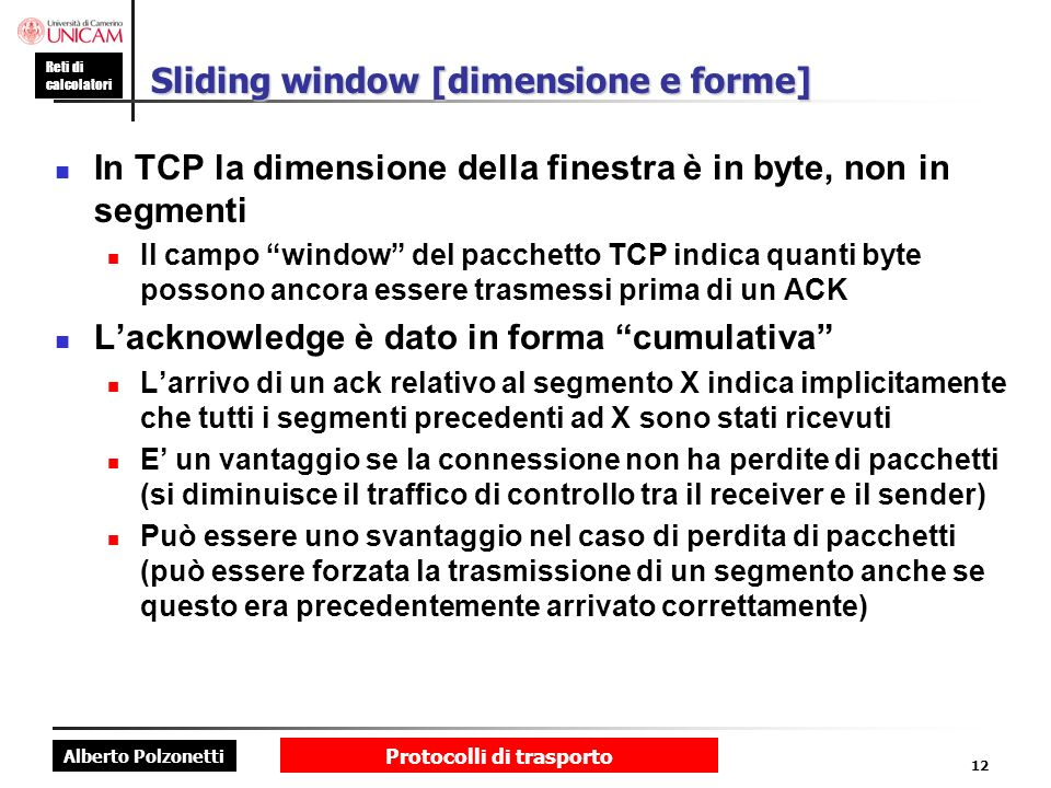 Sliding window [dimensione e forme]